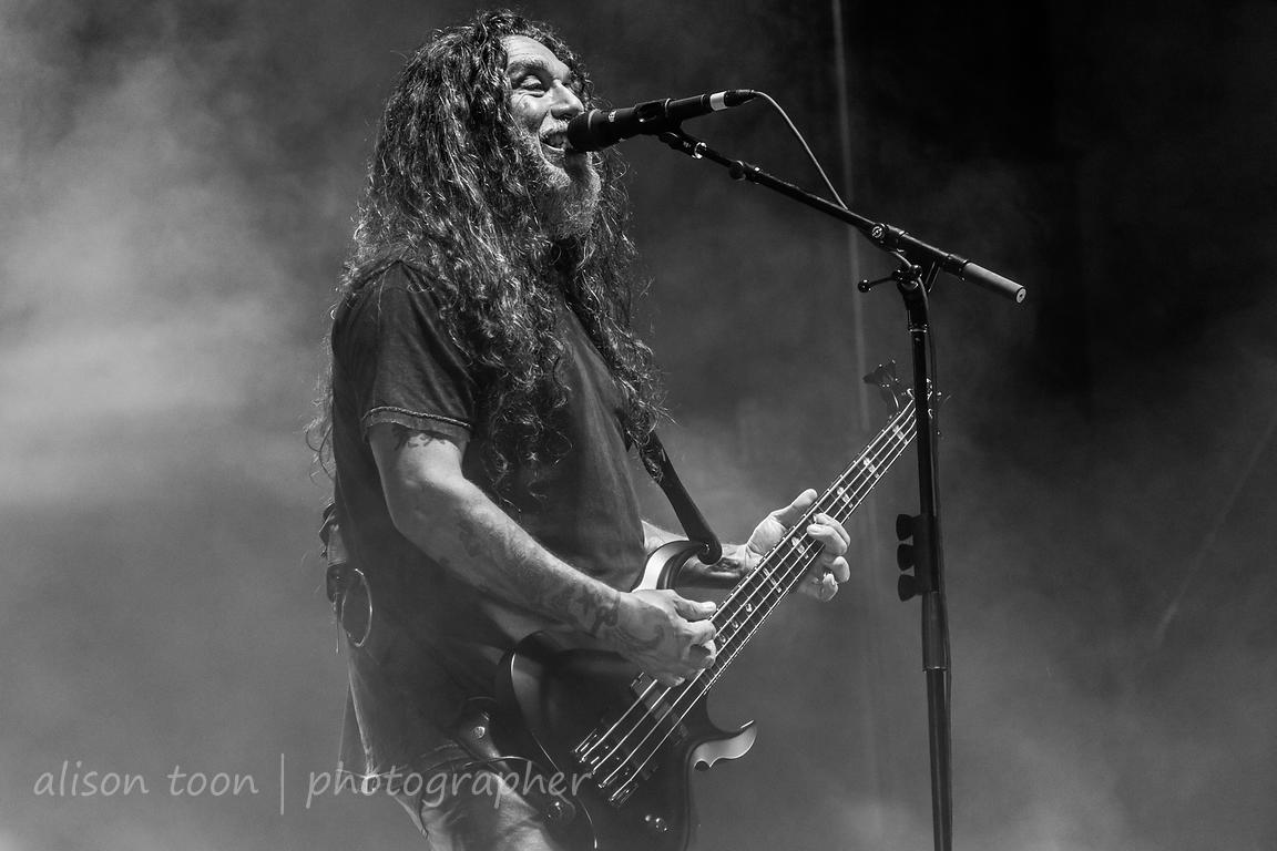 Tom Araya, vocals and bass, Slayer