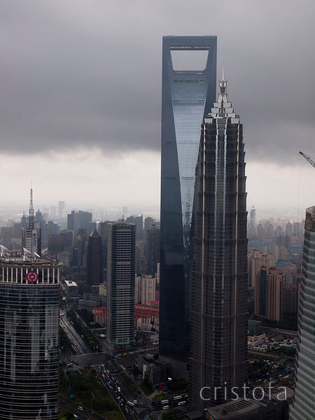 Jin Mao Tower and the Shanghai World Financial Centre