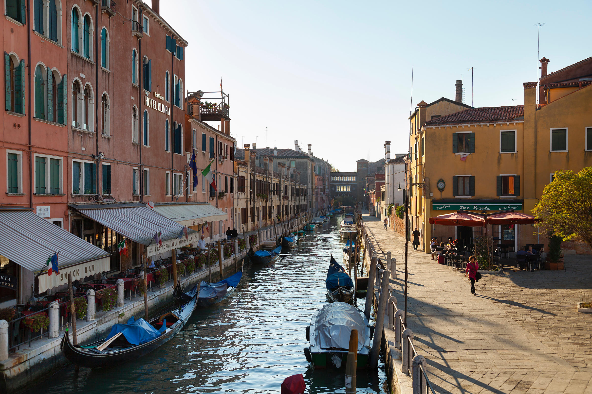 Italy, Venice, Dorsoduro, View of city near canal