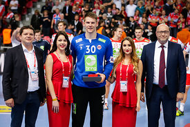 Torbjorn S.Bergerud during the EHF EURO Croatia 2018 - Preliminary round -  Group B - Norway vs Belarus in Zatika Sports Cent...