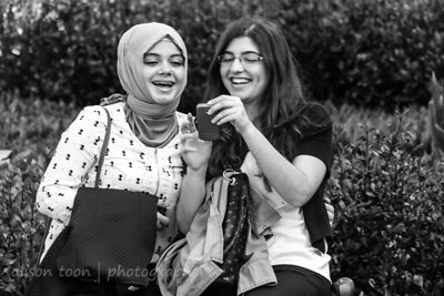 Two happy women, Istanbul