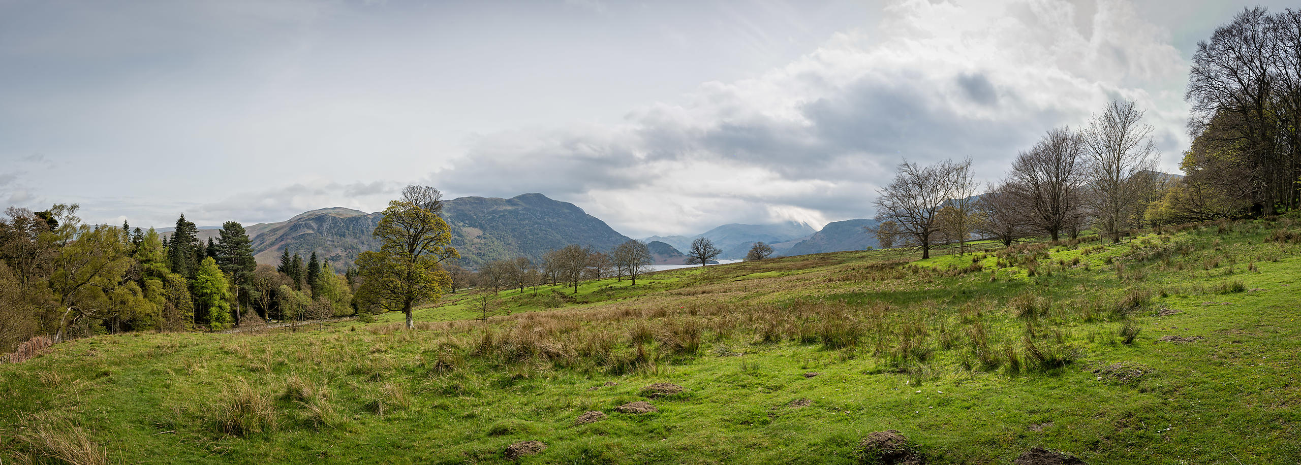 Panoramic Hillside View at Aira Falls, Lake District