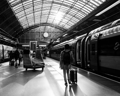 Traveller, Waterloo Station, London