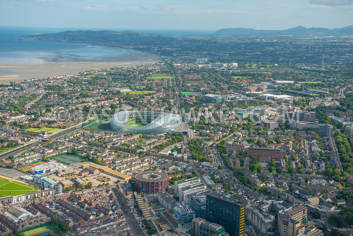 Aerial view of Aviva Stadium, Dublin. Ireland.