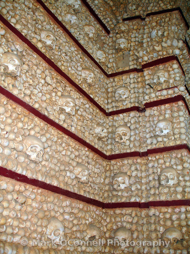 Wall made of 1245 sculls and bones Faro 2