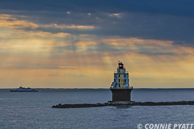 Sunset on Harbor Refuge Lighthouse