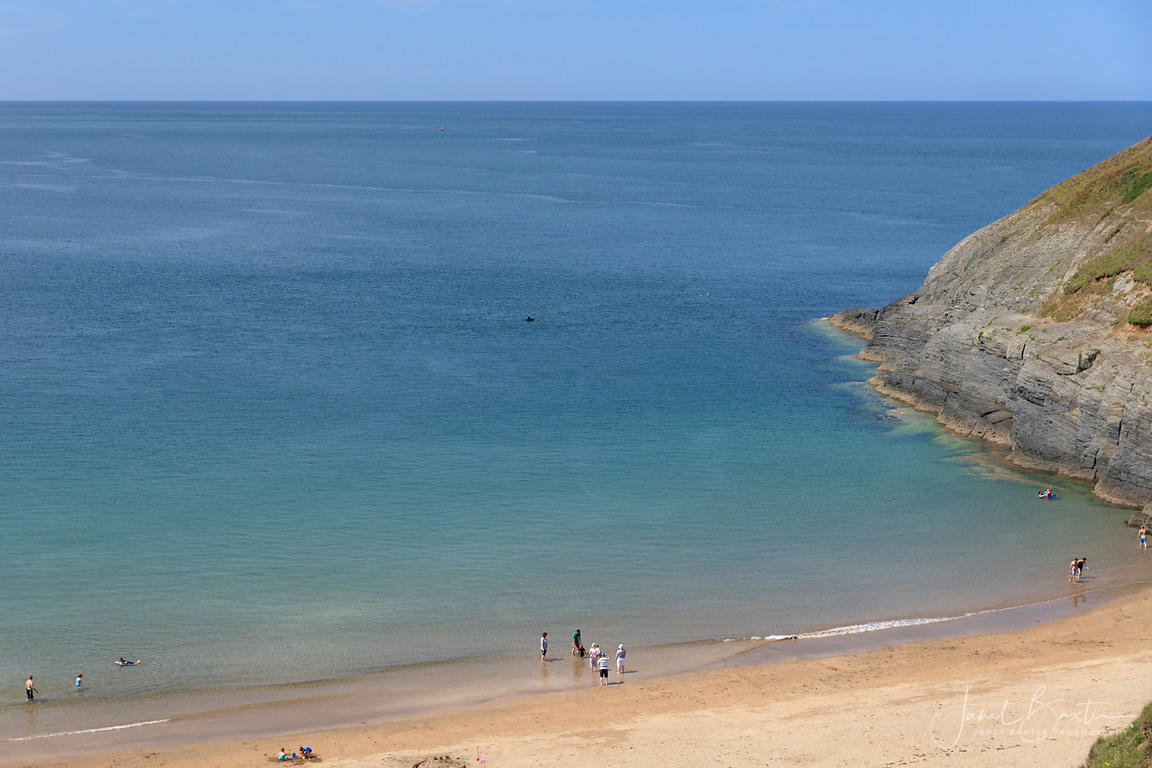 Dolphin watching, Mwnt beach