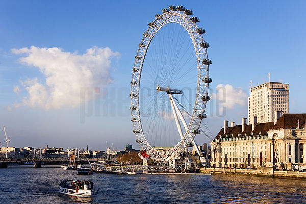 View of London Eye from the Westminster
