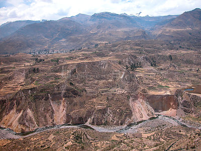 Colca Canyon in the Andes mountains, near Arequipa city, Peru.