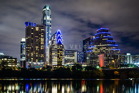 Austin Skyline at Night 2016