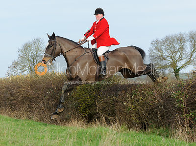 The Cottesmore Hunt visit the Fitzwilliam at Morborne