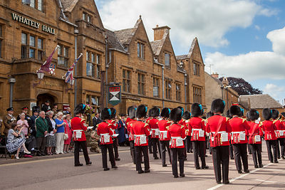 Band of the Irish Guards outside the Whateley Hall Hotel