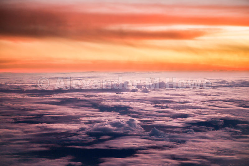 Sunrise from a Plane