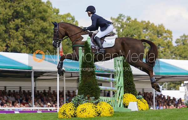 Allison Springer and ARTHUR - show jumping phase, Burghley Horse Trials 2014.