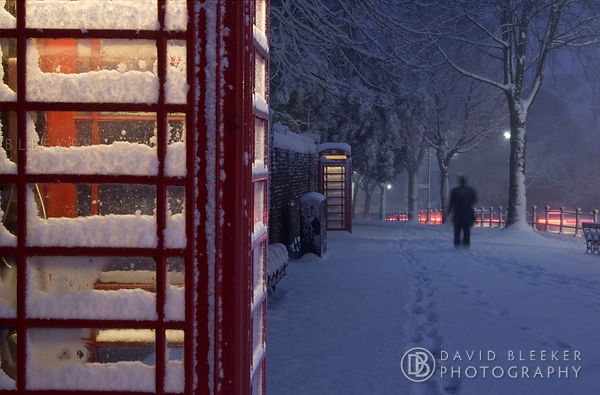 London Telephone in Winter