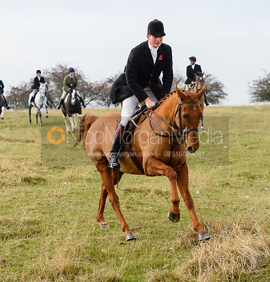 William Bell above Braunston. The Cottesmore Hunt at Braunston