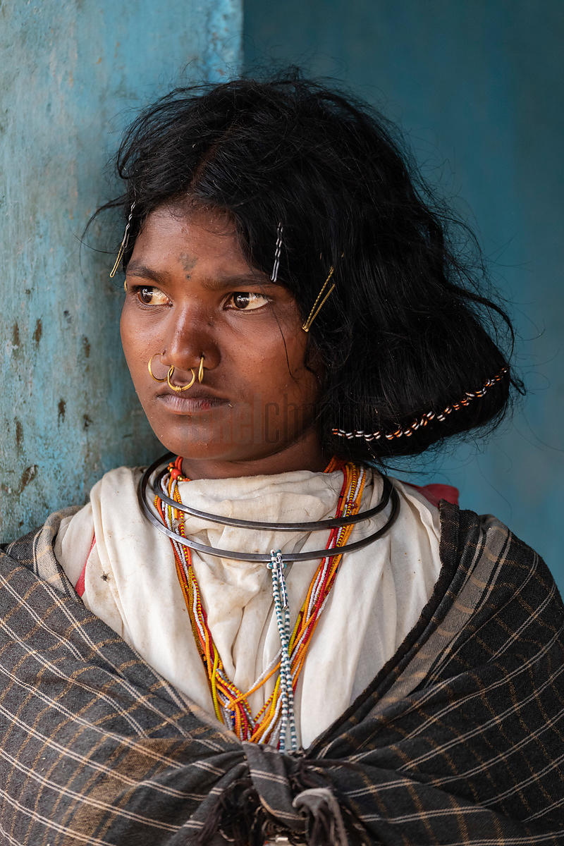 Portrait of a Young Woman from the Dangaria Kandha or Dongria Kondh Tribe