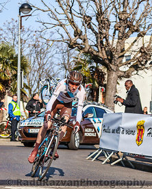 The Cyclist Bardet Romain- Paris Nice 2013 Prologue in Houilles