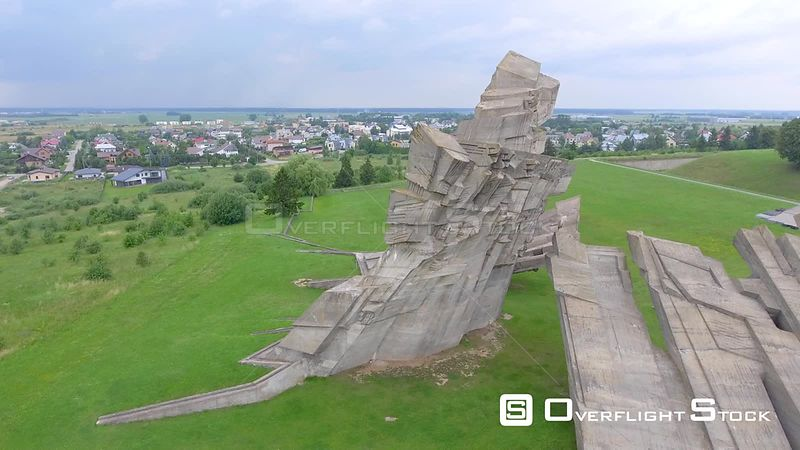 Ninth Fort aerial view in Kaunas, Lithuania