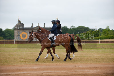 Clair Jeffreys (Great Idea) and Mary-Anne Carpenter (Alles Klar), Subaru Houghton International Horse Trials, May 2011