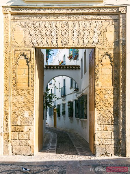Spain, Andalusia, Cordoba. Door leading to the old town
