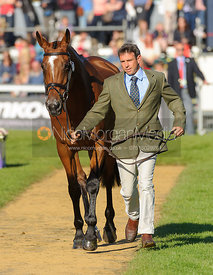 Sam Griffiths and PAULANK BROCKAGH - The final vets inspection (trot up),  Land Rover Burghley Horse Trials, 8th September 2013.