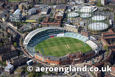aerial photograph of the  Oval Cricket Ground   London UK