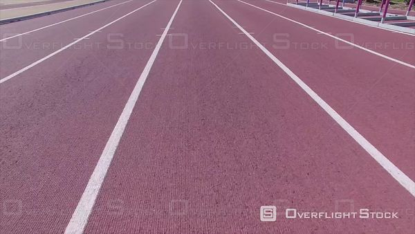 Low Pass Aerial Over a Track and Field Running Lanes