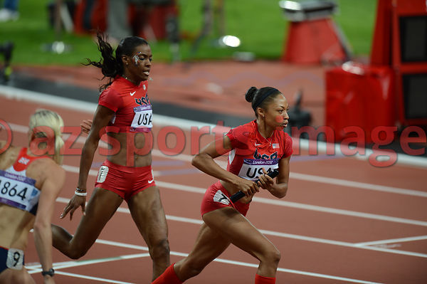 4x400 (USA) Relay Team Allyson Felix