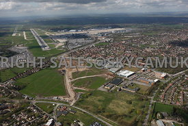 Manchester Airport view of Ringway Trading  Estate Shadowmoss Road Ferranti and Atlas Business Park Simonsway with Manchester...
