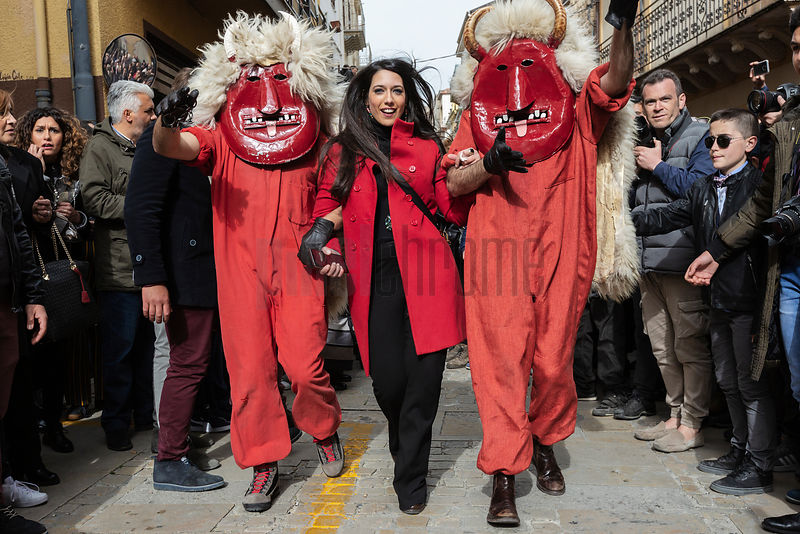 The Devils Wear Red Overalls and a Big Mask during the Dance of the Devils (U Ballu di Diavuli) on Easter Sunday