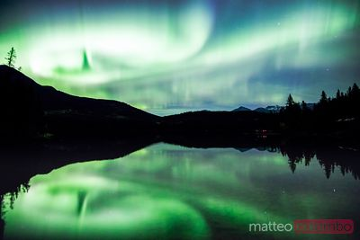 Northern lights (Aurora Borealis), Jasper National Park, Canada