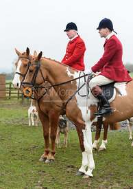 Andrew Osborne, Dan Cherriman At the meet. The Cottesmore and The Pytchley at Downton House