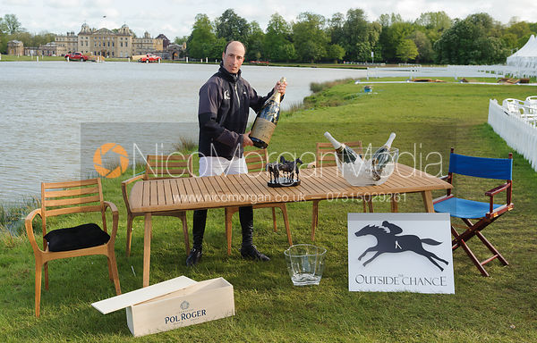 Tim Price at the Outside Chance - Mitsubishi Motors Badminton Horse Trials 2014.
