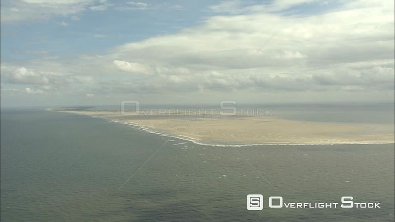 Flying past Vlieland in the Wadden Sea