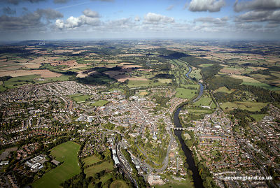 aerial photograph of Bridgnorth Shropshire England UK