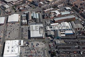 Bury aerial photograph of Anglouleme Retail Park George Street and Foundry Street