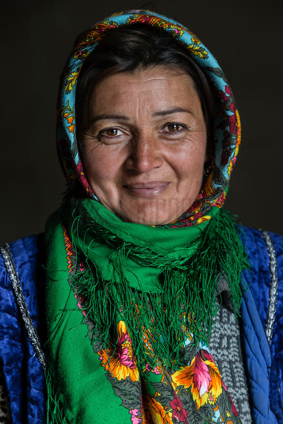 Portrait of a Turkmen Woman