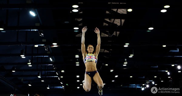 Athletics - Aviva International  - Kelvin Hall ISA, Glasgow, Scotland - 29/1/11.Jessica Ennis in action during the Women's  l...