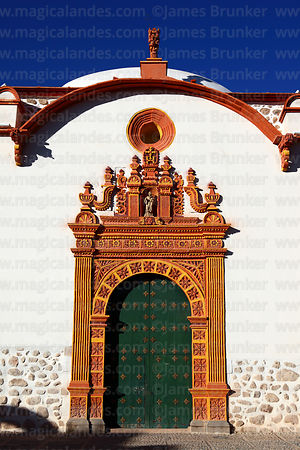 San Benito church entrance facade, Potosí, Bolivia