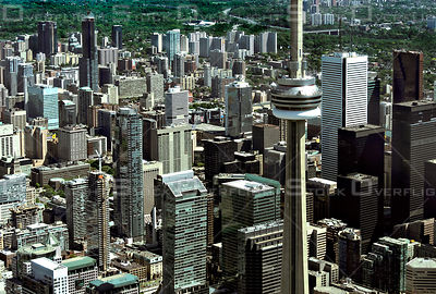 Downtown Core of the City of Toronto with the CN Tower