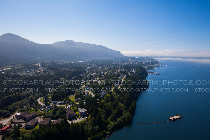 Aerial photo of Prince Rupert, British Columbia.