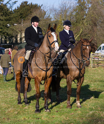 The Cottesmore Hunt at Witham Hall School 14/2