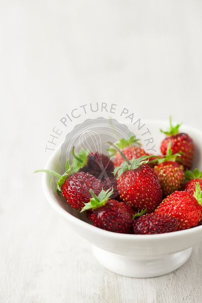 Homegrown Alpine Strawberries in Bowl