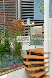 Aromatic plant, Garden chair, garden designer, Garden furniture, Garden table, Stair, Terrace, Thyme, Contemporary Terrace, D...