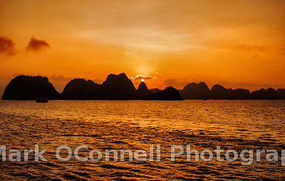 Sunset 3 in Halong Bay Vietnam