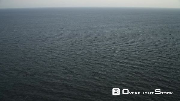Over open ocean off the New Jersey coast at 200 feet elevation. Shot in November
