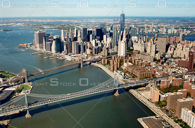 Lower Manhattan and East River Bridges