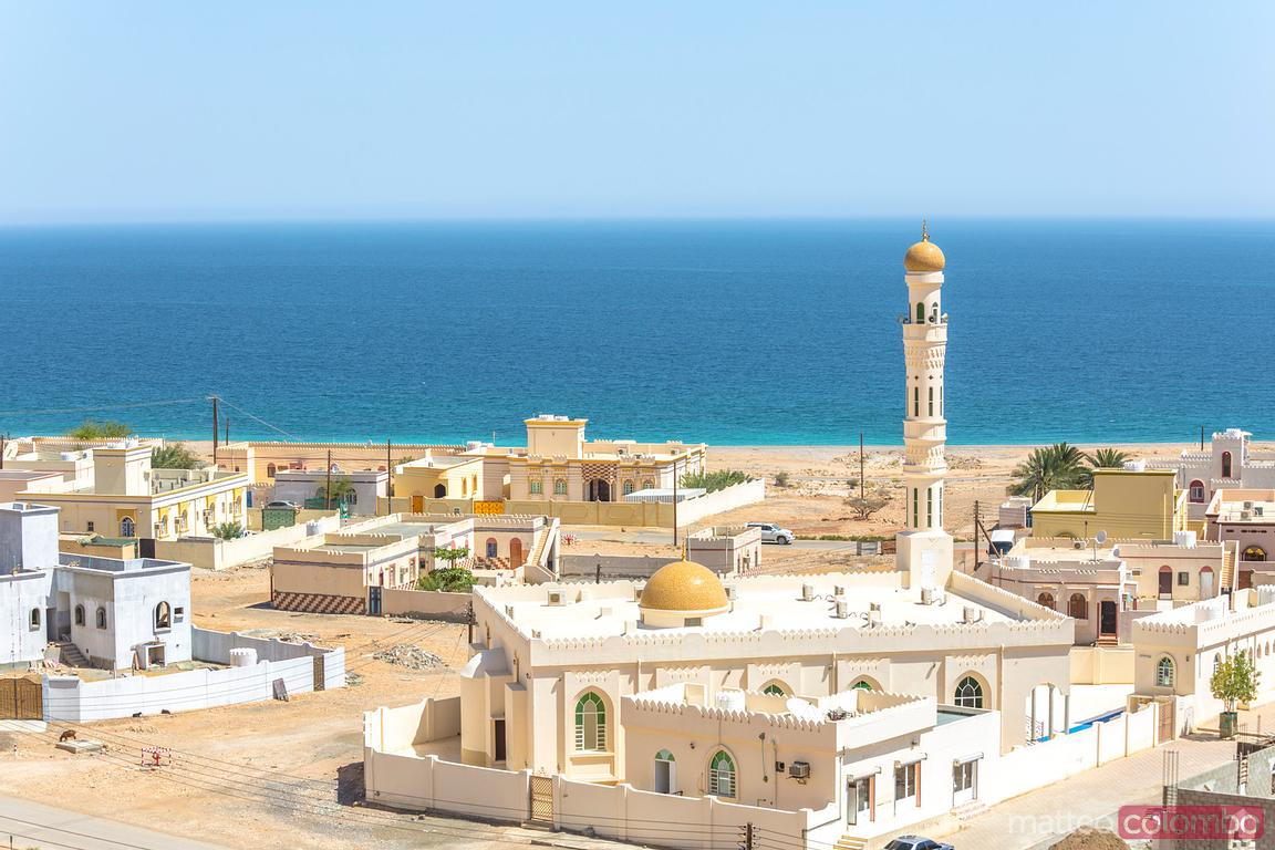 View of the city of Sur from the top of the fortress, Oman