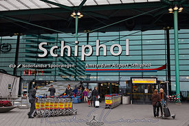 Main Entrance in Schiphol Airport- Amsterdam